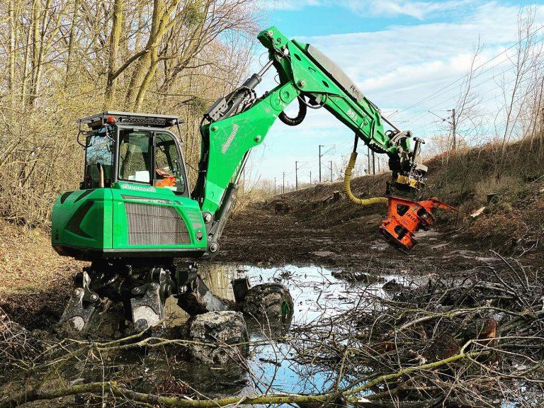 Nettoyage rebouchage, nivellement chantier Terraflo à Epernay près de Reims Février 2020
