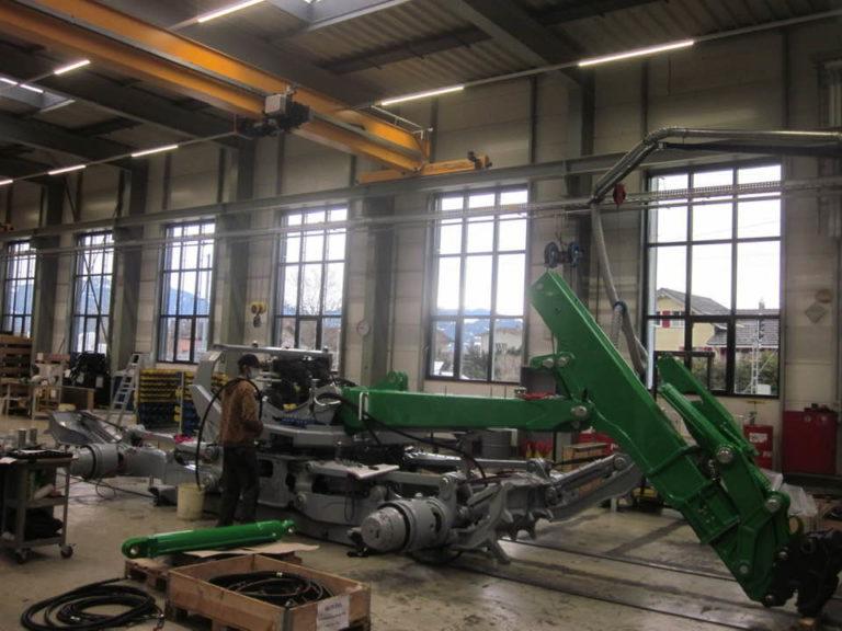 Nouvelle pelle araignée en construction pour Terraflo - 68 Wittelsheim