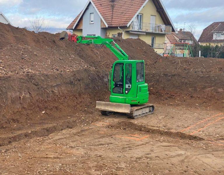 Exemple d'un chantier de terrassement