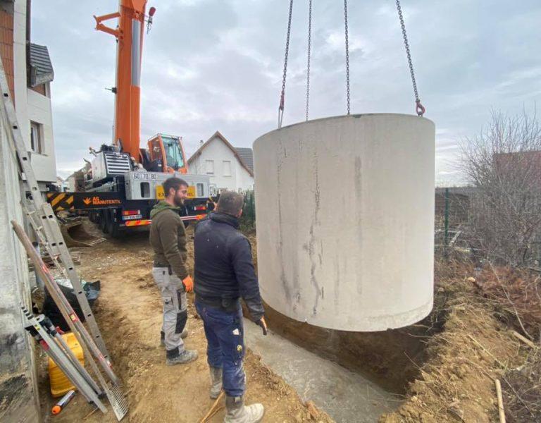 Récupérer l'eau de pluie , nous installons des cuve de récupération